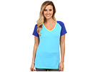 Reebok Delta Series Training Short Sleeve Tee (Blue Pink) Women's Short Sleeve Pullover