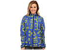 Reebok Delta Series Training Woven Jacket (Blue Move/Neon Yellow) Women's Coat