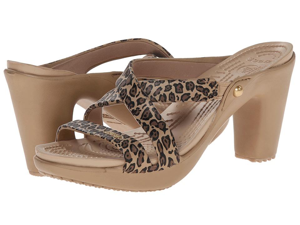 Crocs Cyprus Leopard (Gold/Black) Women