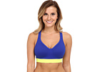Reebok Delta Series Short Bra (Blue Move/Neon Yellow) Women's Bra