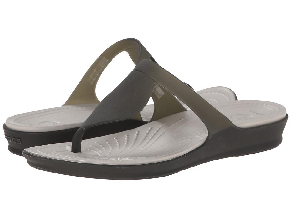 Crocs - Rio Flip (Black/Platinum) Women's Sandals
