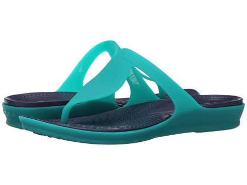 Crocs - Rio Flip (Tropical Teal/Nautical Navy) Women's Sandals