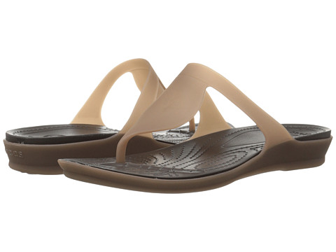 Crocs - Rio Flip (Bronze/Espresso) Women's Sandals