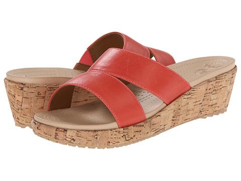 Crocs - A-Leigh Leather Mini (Flamingo/Gold) Women