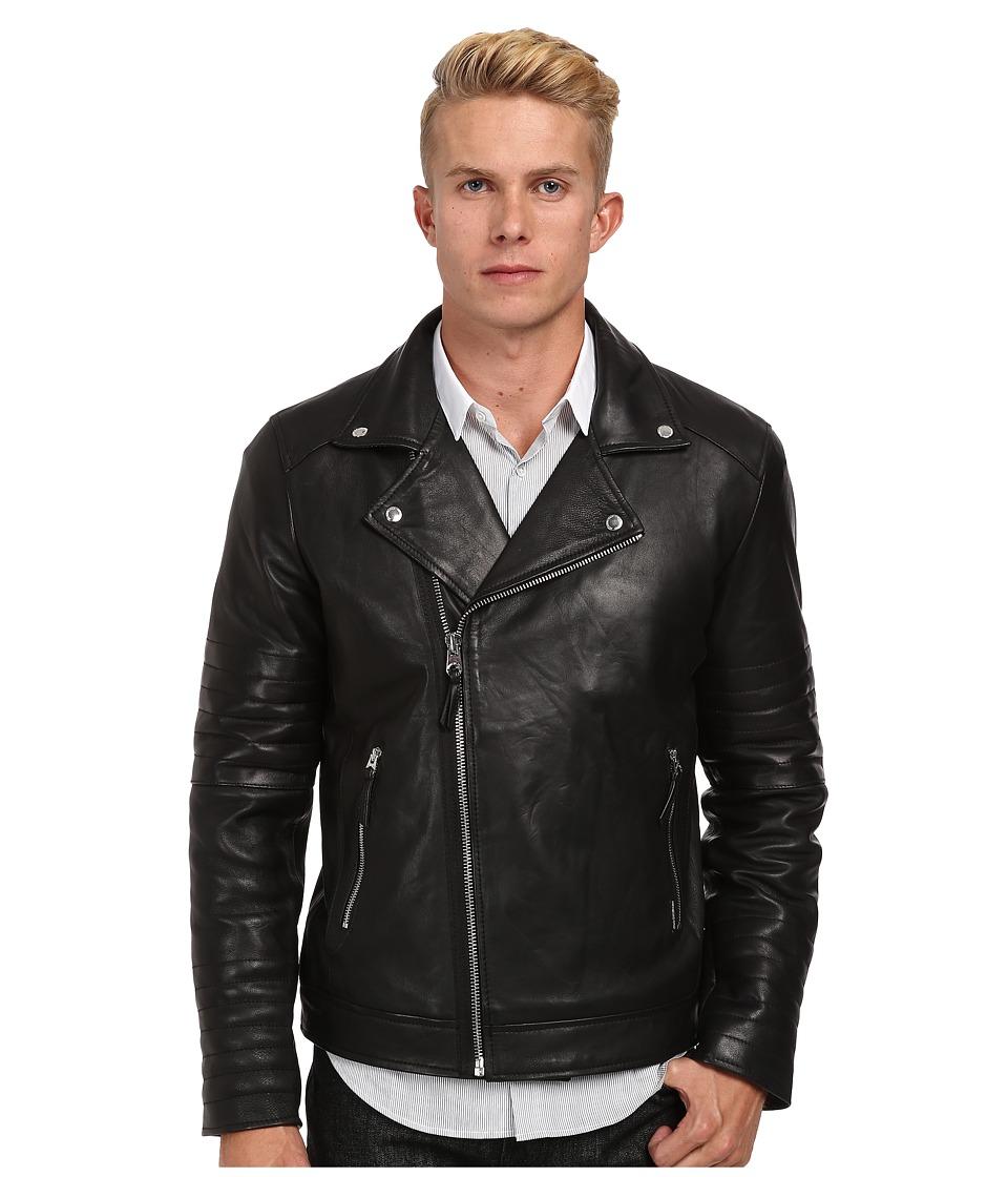 Members Only - Lamb Milano Motor Jacket (Black) Men