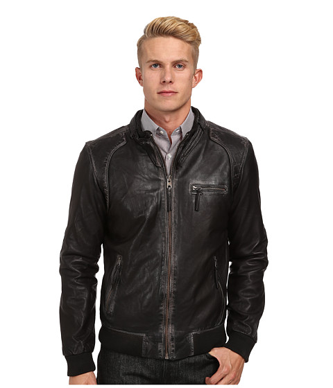 Members Only - Lamb Mustang Vintage Iconic Jacket (Brown) Men's Coat