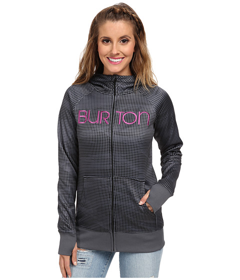 Burton - Scoop Hoodie (Monument Heather Lenticular) Women