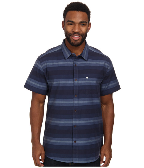 Quiksilver - Pemberton S/S Woven (Pemberton Blue Stone) Men's Short Sleeve Button Up