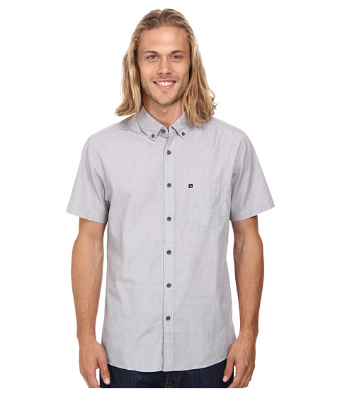 Quiksilver - Wilsden S/S Woven (Castlerock) Men's Short Sleeve Button Up