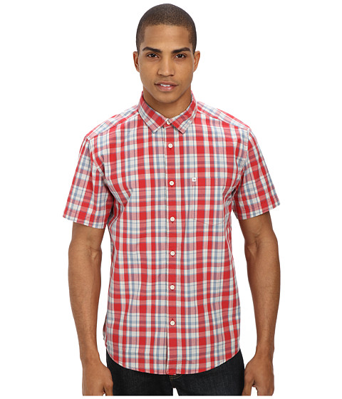 Quiksilver - Helsby S/S Woven (Helsby Beauty) Men's Short Sleeve Button Up
