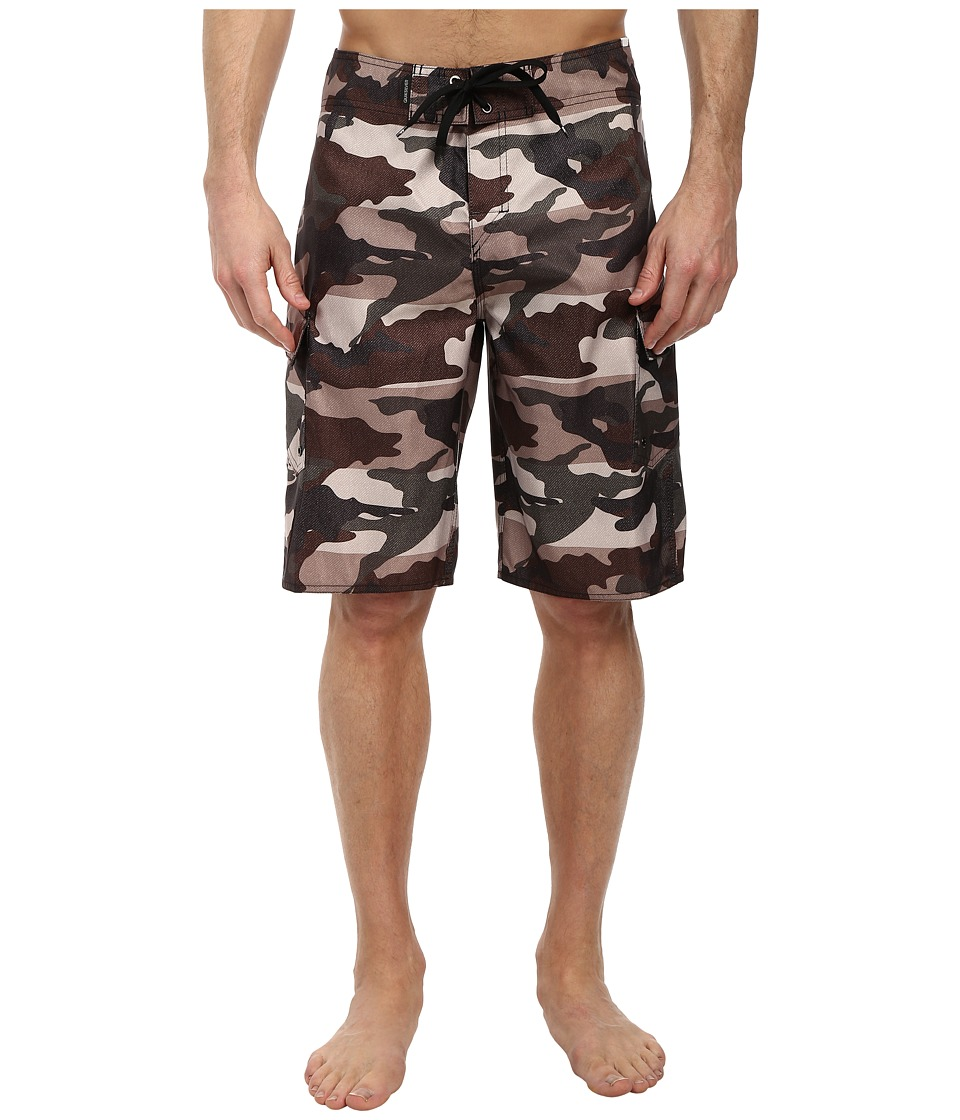 Quiksilver - Manic Camo 22 Boardshort (Forest Night) Men's Swimwear