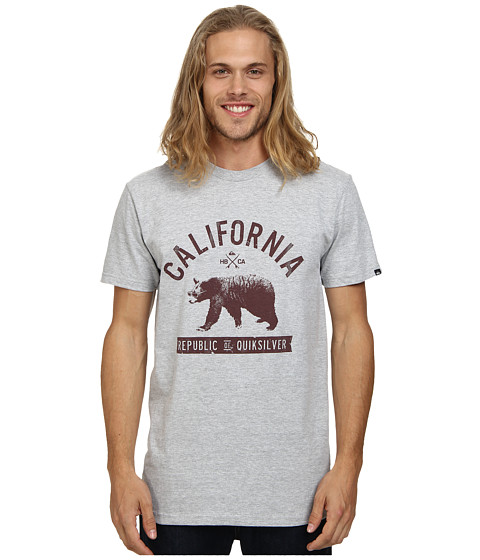 Quiksilver - Bear Life Tee (Athletic Heather) Men