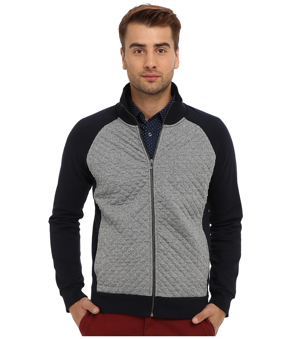 Scotch & Soda - Quilted Track Jacket (Navy/Grey) Men