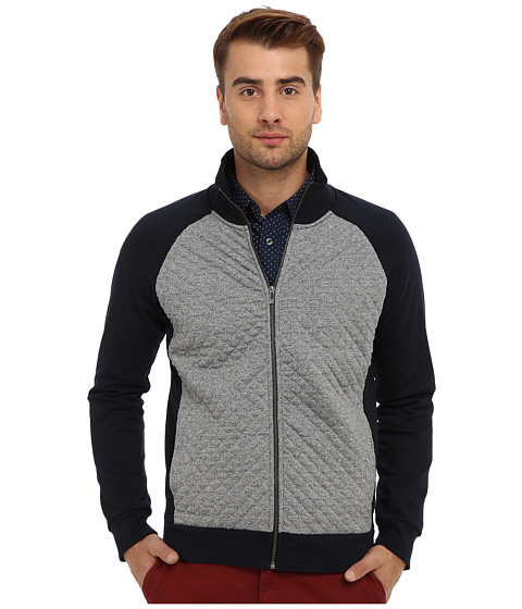 Scotch & Soda - Quilted Track Jacket (Navy/Grey) Men's Coat