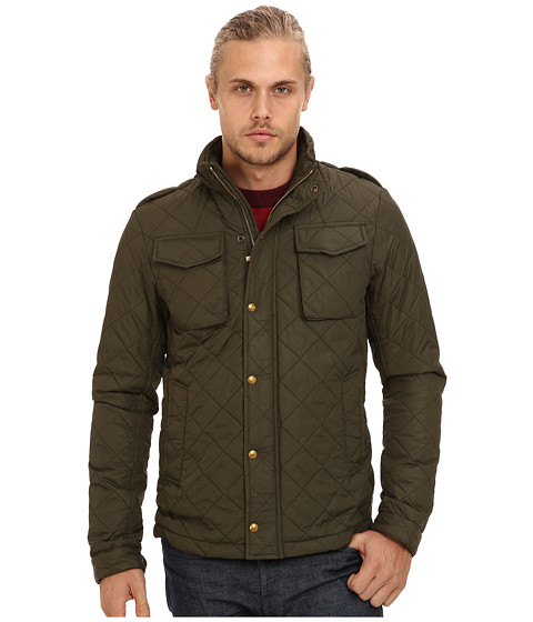 Scotch & Soda - Military Nylon Quiilted Jacket (Green) Men's Coat