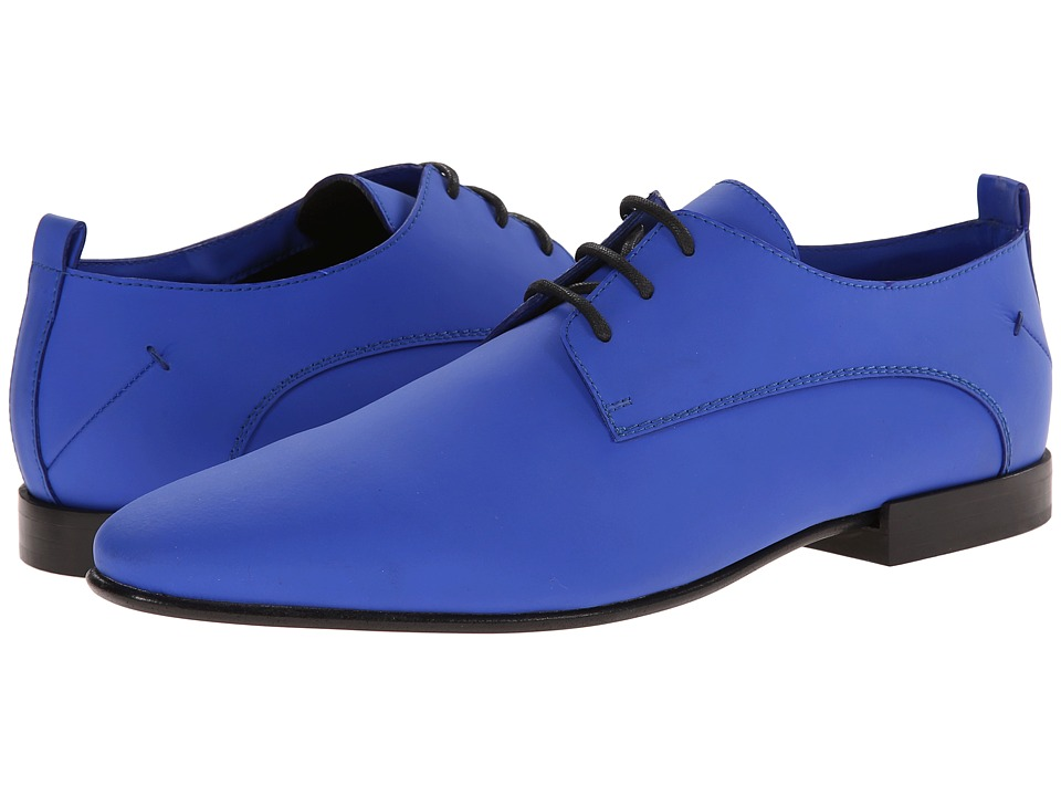 CoSTUME NATIONAL - Plain Toe Oxford (Blue) Men's Lace up casual Shoes