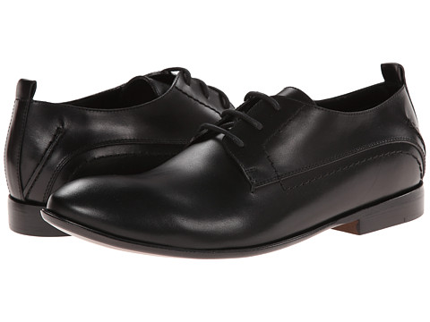 CoSTUME NATIONAL - Leather Oxford (Black) Men's Lace up casual Shoes