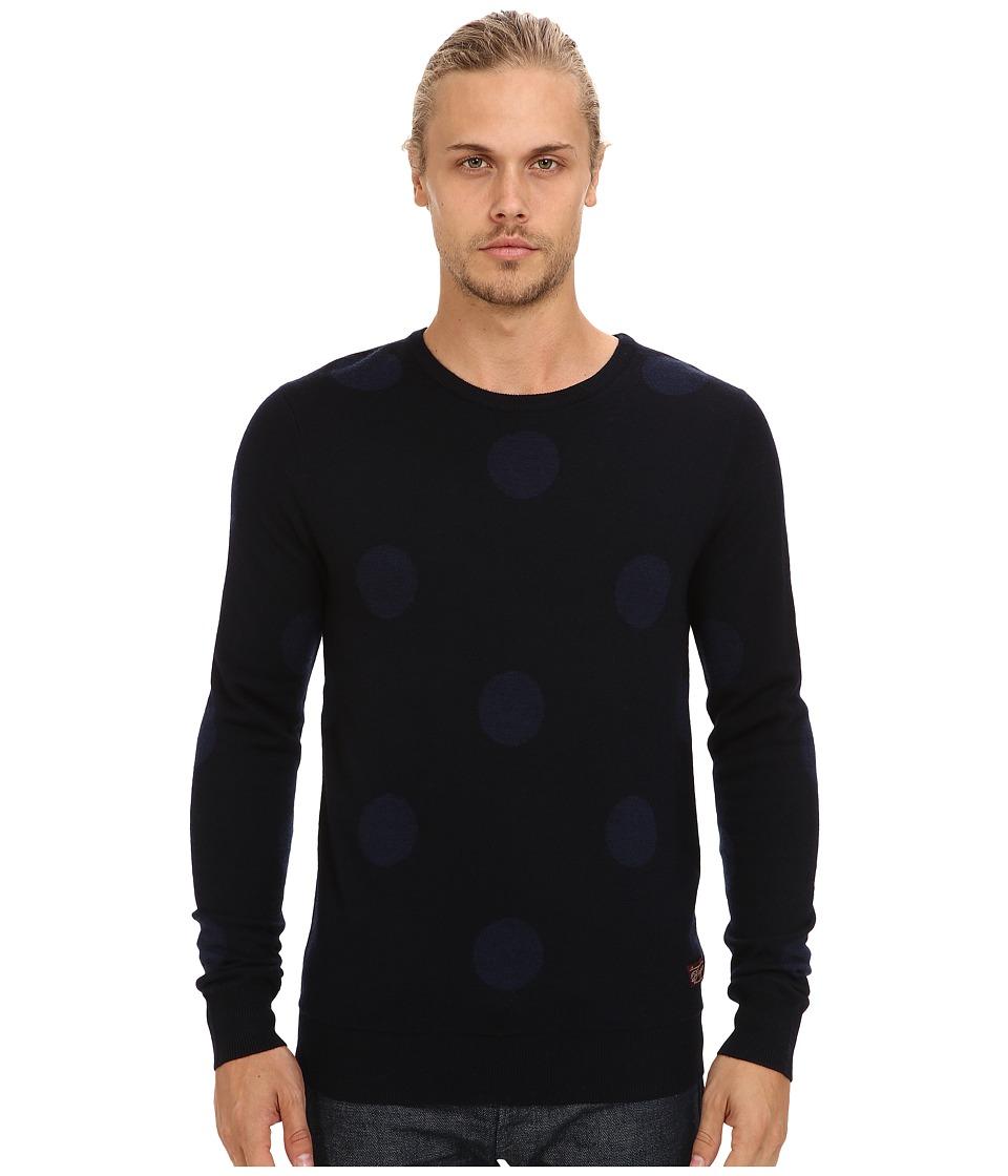 Scotch & Soda - Polka Dot Knit Sweater (Navy/Blue) Men