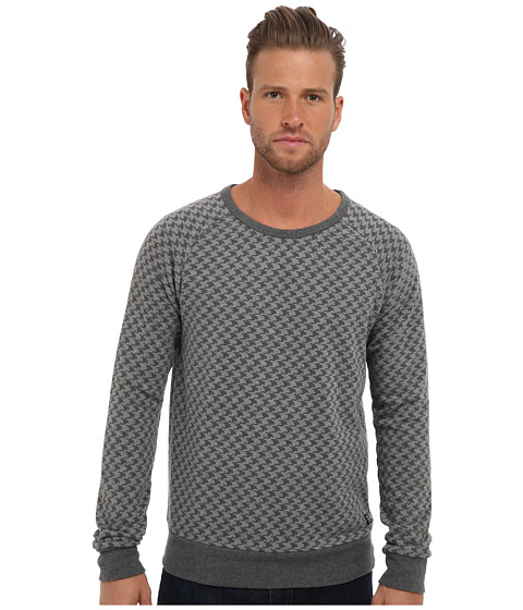 Scotch & Soda - Crew Neck Raglan Sweatshirt (Grey/Black) Men's Sweatshirt