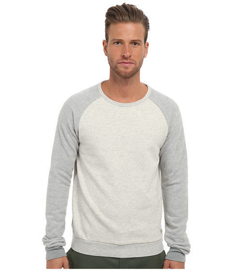 Scotch & Soda - Crew Neck Raglan Sweatshirt (Grey Melange) Men's Sweatshirt