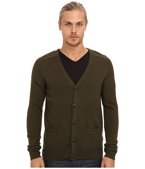 Scotch & Soda - Classic Lambswool Cardigan (Military Melange) Men's Sweater