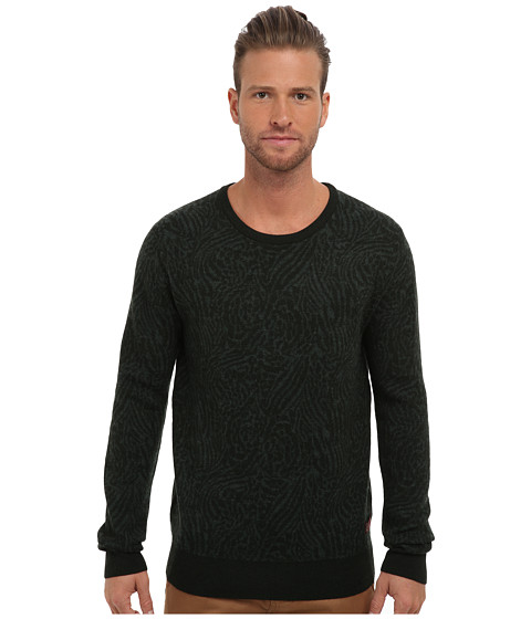 Scotch & Soda - Knitted Crew Neck Sweater (Green) Men's Sweater