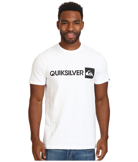 Quiksilver - Everyday Gothic Tee (White) Men's T Shirt