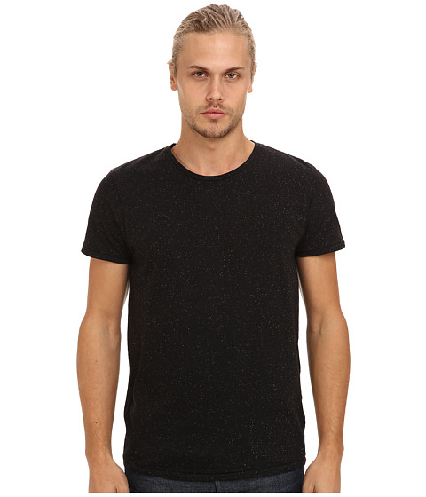 Scotch & Soda - Melange Jersey Crew Neck Tee (Pitch Black Melange) Men