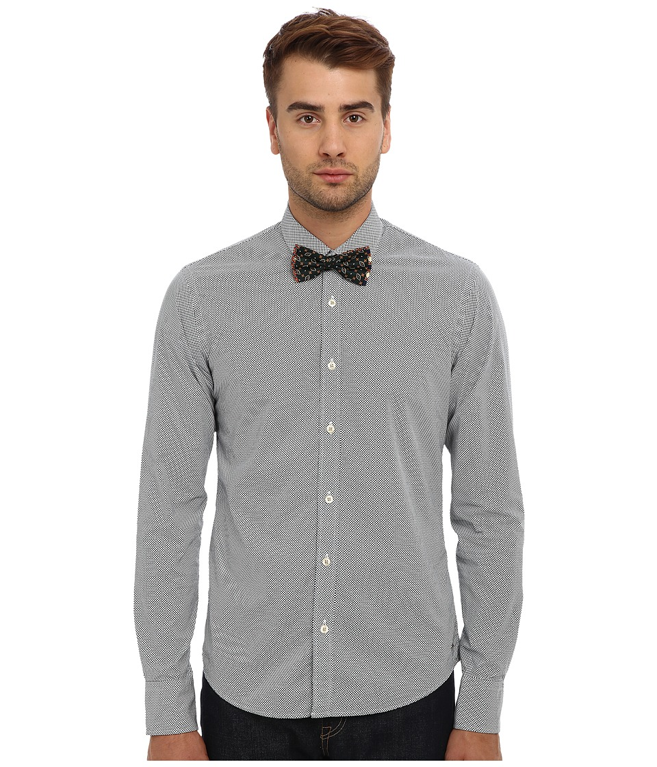 Scotch & Soda - Long Sleeve Printed Button Down Shirt with Bowtie (Multi) Men