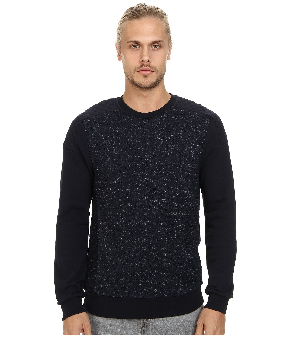 Scotch & Soda - Moto Crew Neck Sweater (Night Melange) Men's Sweater