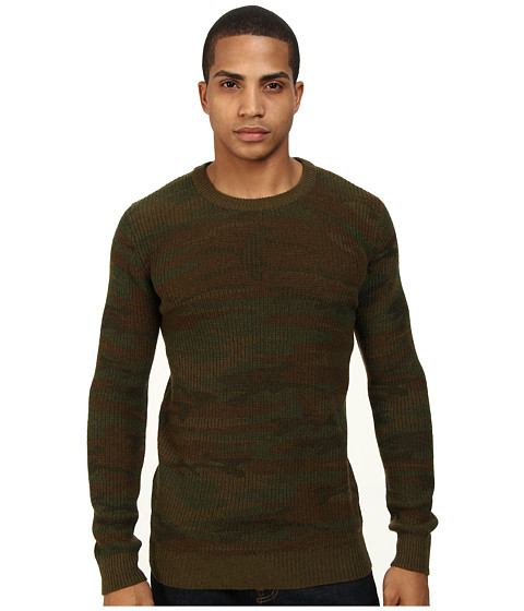 Scotch & Soda - Lambswool Army Pullover (Green) Men's Clothing