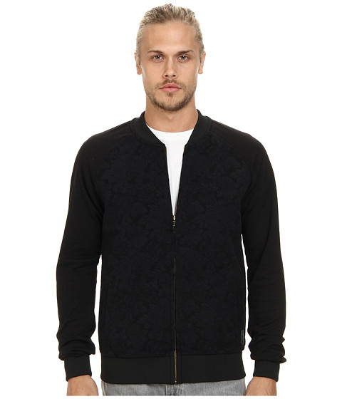 Scotch & Soda - Jacquard Bomber Jacket (Black/Navy) Men's Coat