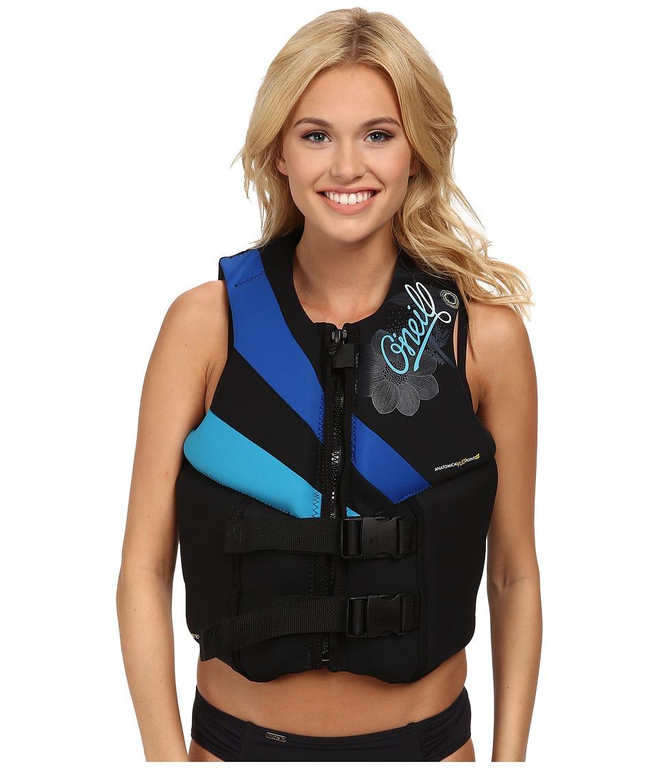 O'Neill - Siren L/S USCG Vest (Black/Pacific/Turquoise) Women's Swimwear