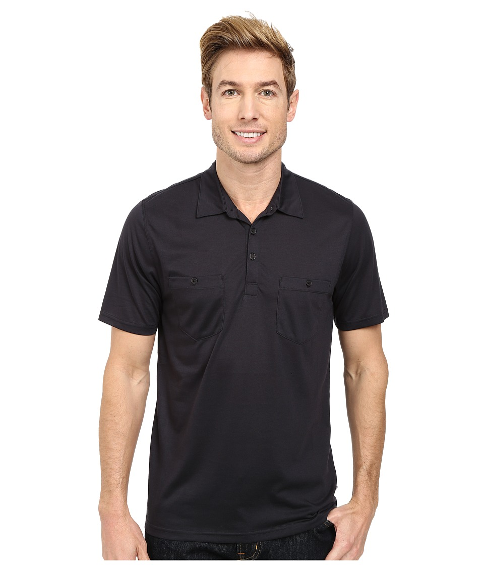 Toad&Co - Onrush S/S Polo Shirt (Black) Men's Short Sleeve Knit