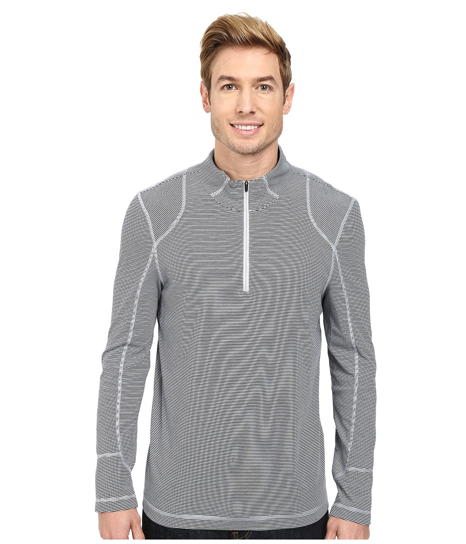 Toad&Co - Onrush 1/4 Zip Top (Chrome Stripe) Men's Long Sleeve Pullover