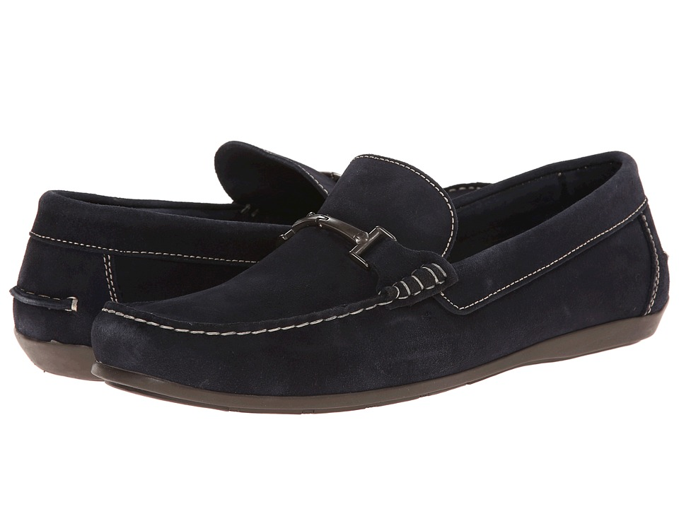 Florsheim - Jasper Bit (Navy Suede) Men's Slip on Shoes