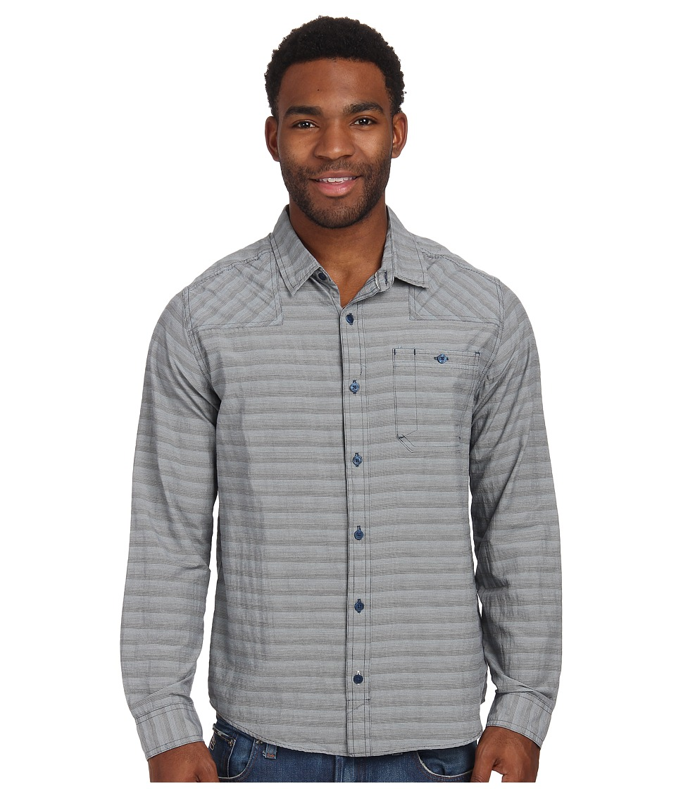 Toad&Co - Wonderer L/S Shirt (Deep Blue) Men's Long Sleeve Button Up
