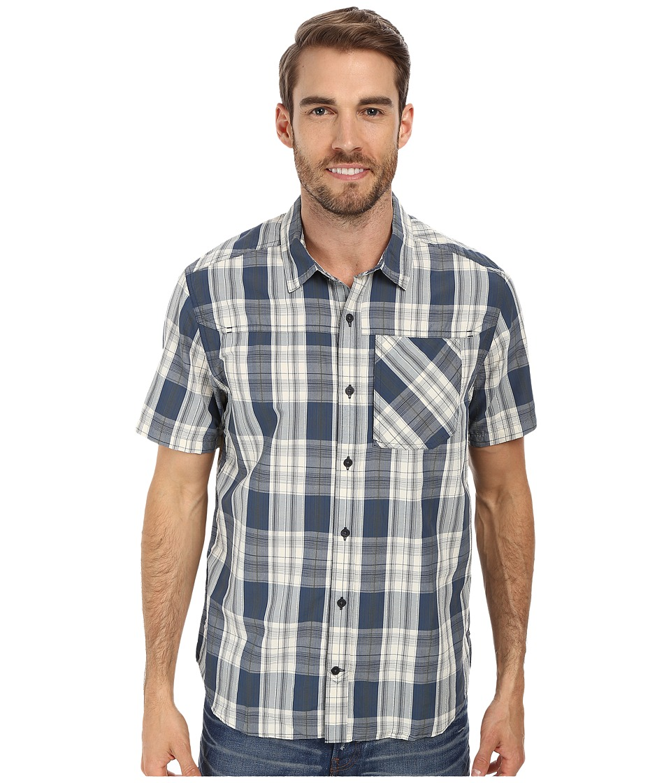 Toad&Co - Cartographer S/S Shirt (Blue Steel) Men's Short Sleeve Button Up