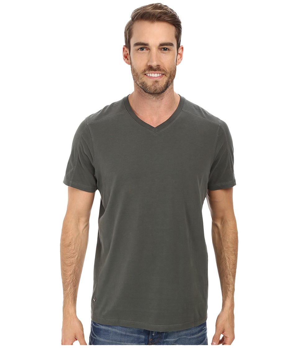 Toad&Co - Smooth Talk S/S V Tee (Dark Graphite) Men's Short Sleeve Pullover