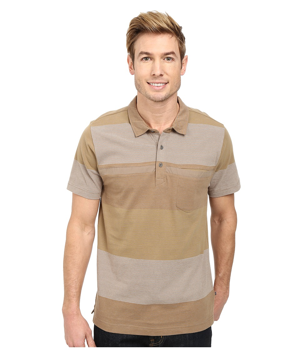 Toad&Co - Jack S/S Polo Shirt (Dark Chino) Men's Short Sleeve Knit