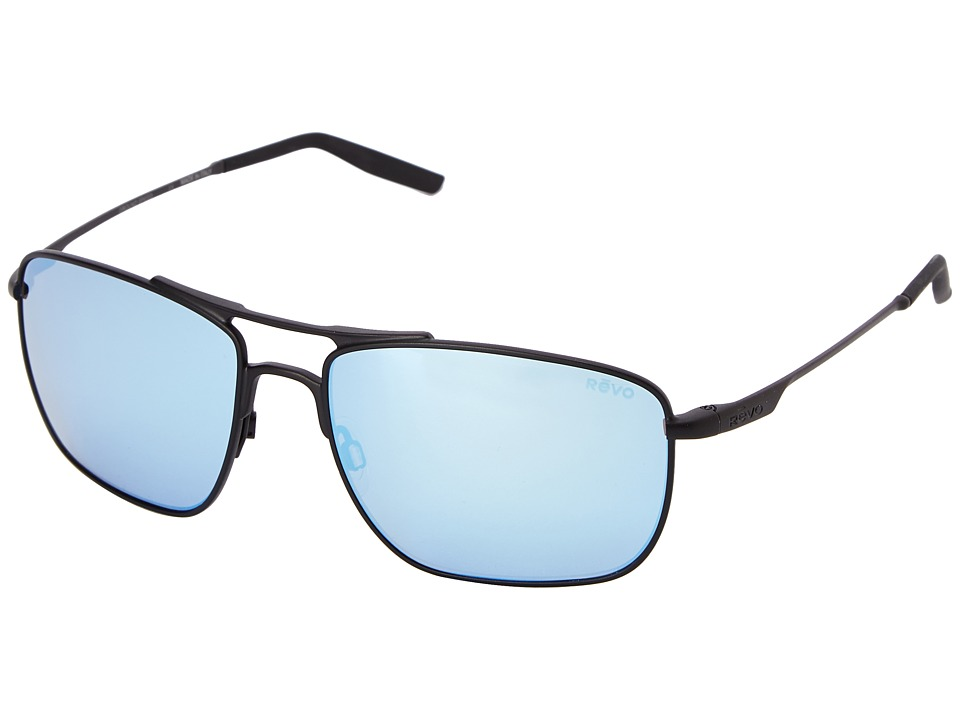 Revo - Ground Speed (Black/Blue Water) Sport Sunglasses