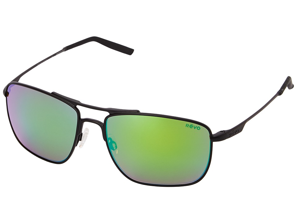 Revo - Ground Speed (Black/Green Water) Sport Sunglasses
