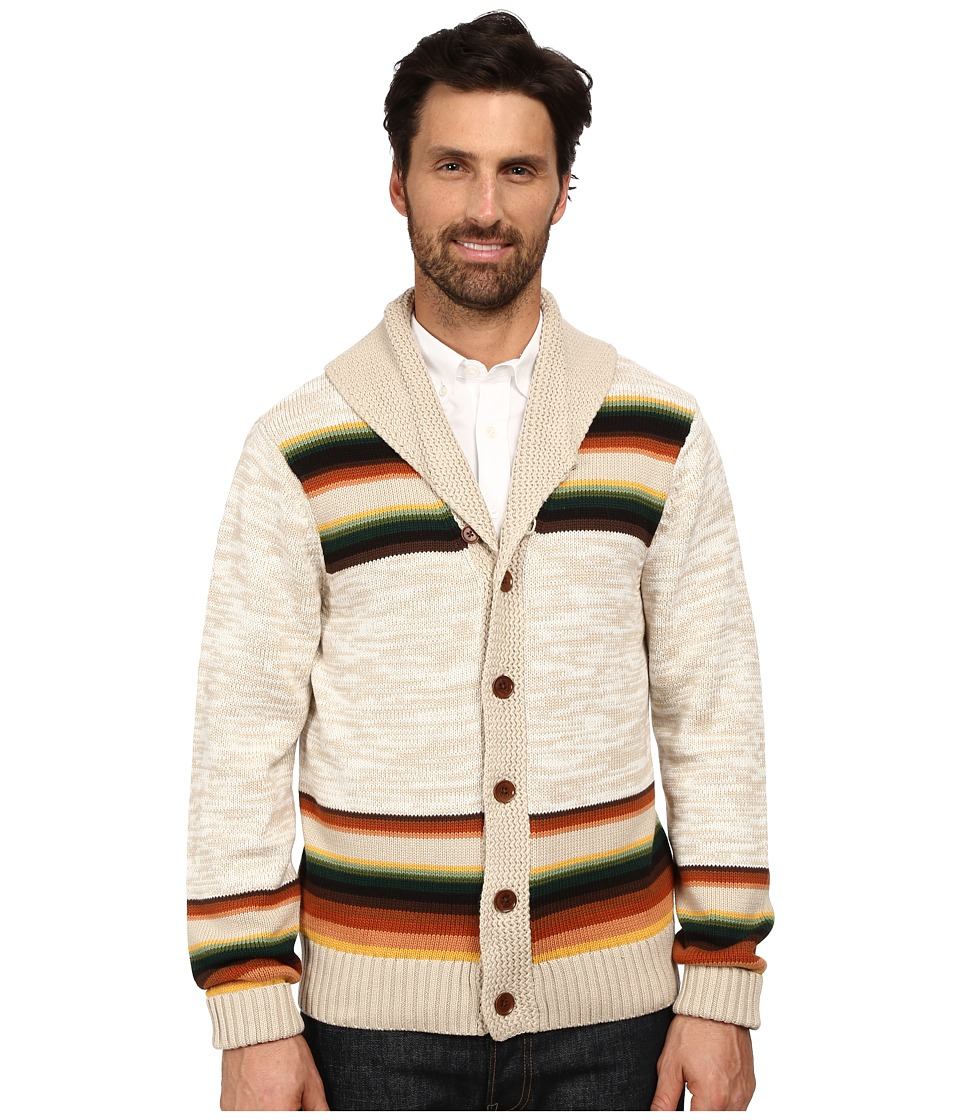 Pendleton - Jacquard Cardigan (Tan Multi Sunset Pass) Men's Sweater