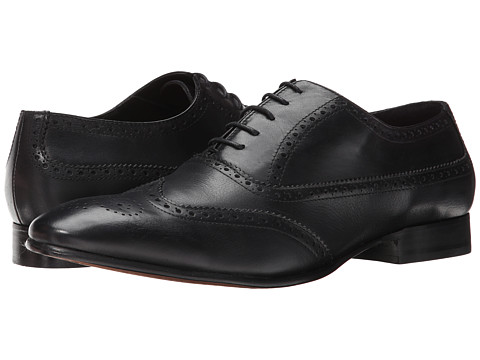Fitzwell - Wing (Black Tequila Leather) Men's Dress Flat Shoes