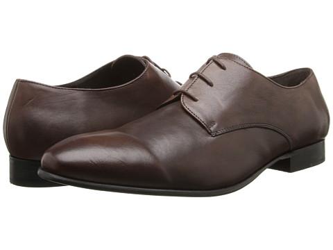 Fitzwell - Plain (Cognac Tequila Leather) Men's Dress Flat Shoes