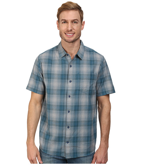 Toad&Co - Coolant S/S Shirt (Marlin) Men's Short Sleeve Button Up