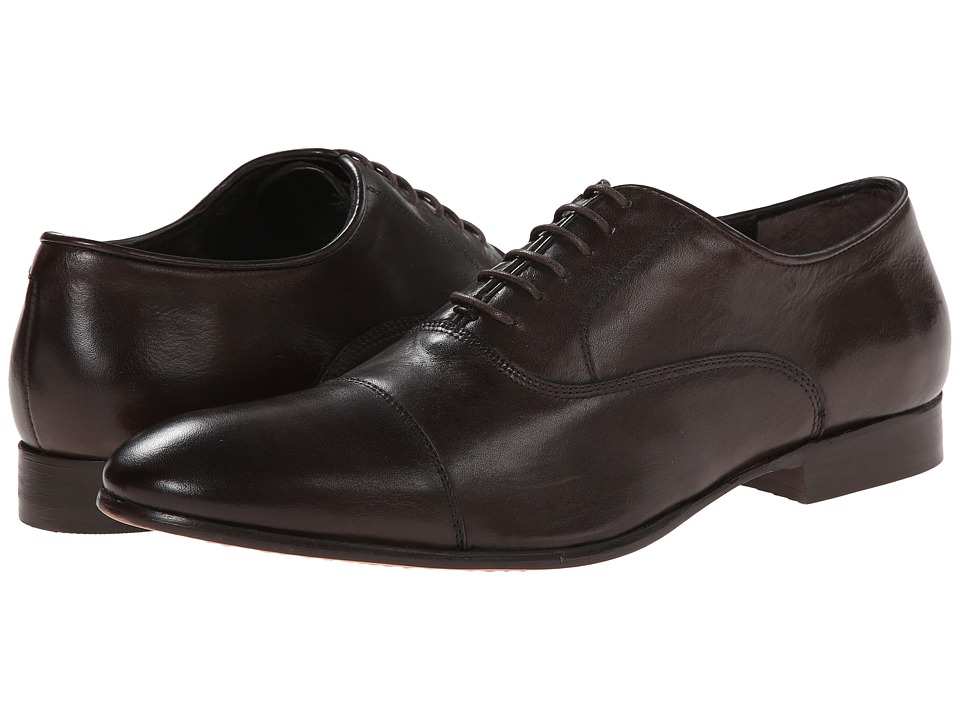 Fitzwell - Cap (Dark Brown Tequila Leather) Men's Dress Flat Shoes