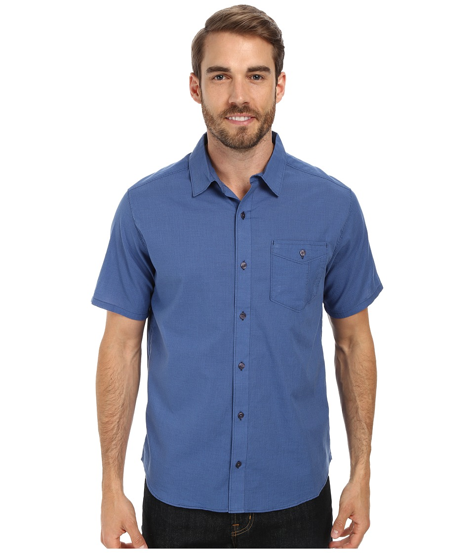 Toad&Co - Airbrush S/S Shirt (Deep Water) Men's Short Sleeve Button Up