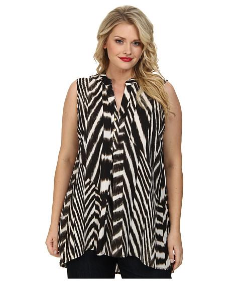 Calvin Klein Plus - Plus Size Sleeveless High-Low Tunic (Zebra) Women