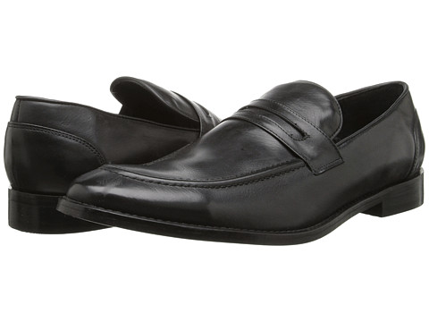 Fitzwell - Momo (Black Tequila Leather) Men's Dress Flat Shoes